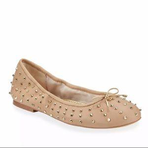 Sam Edelman Fanley Spike-Studded Leather Flats